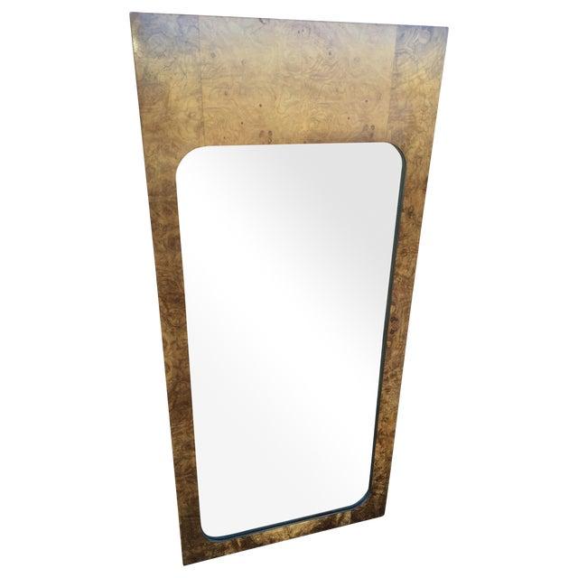 Milo Baughman for Lane Burled Olive Wood Mirror - Image 1 of 4