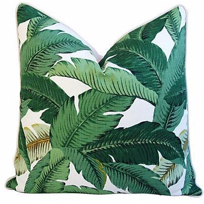 Custom-Made Tropical Iconic Banana Leaf Pillow - Image 1 of 2