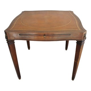 Antique Card Table With Extensions
