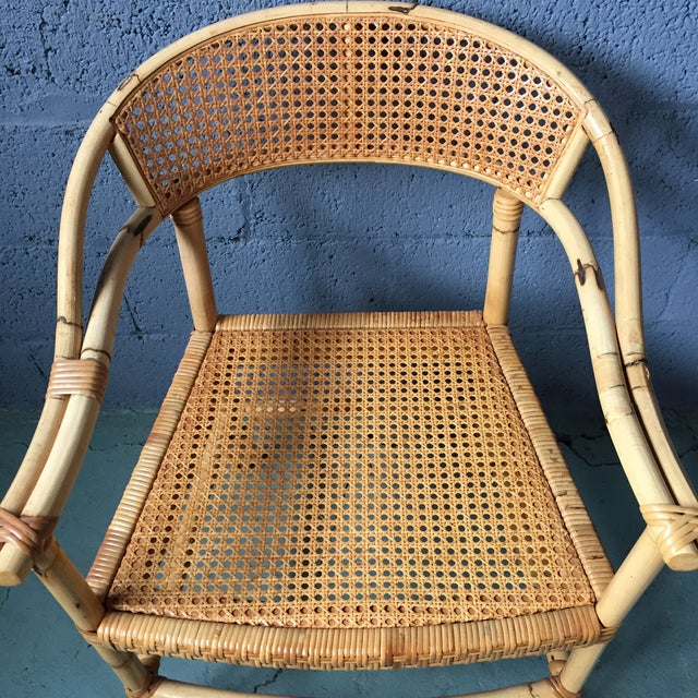 Bamboo and Cane Dining Chairs - Set of 4 - Image 6 of 11