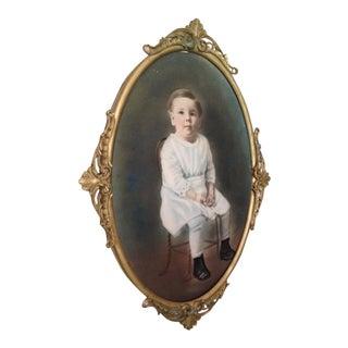 Antique Framed Portrait of Child