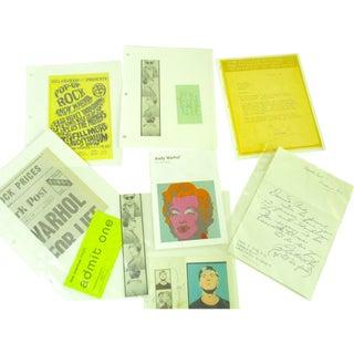 Andy Warhol Ephemera Reproduction Prints