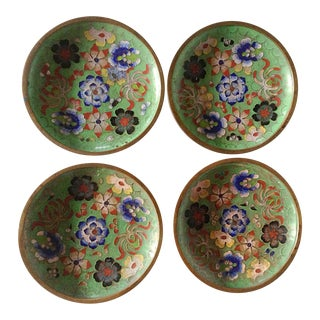 Cloisonne Coasters - Set of 4