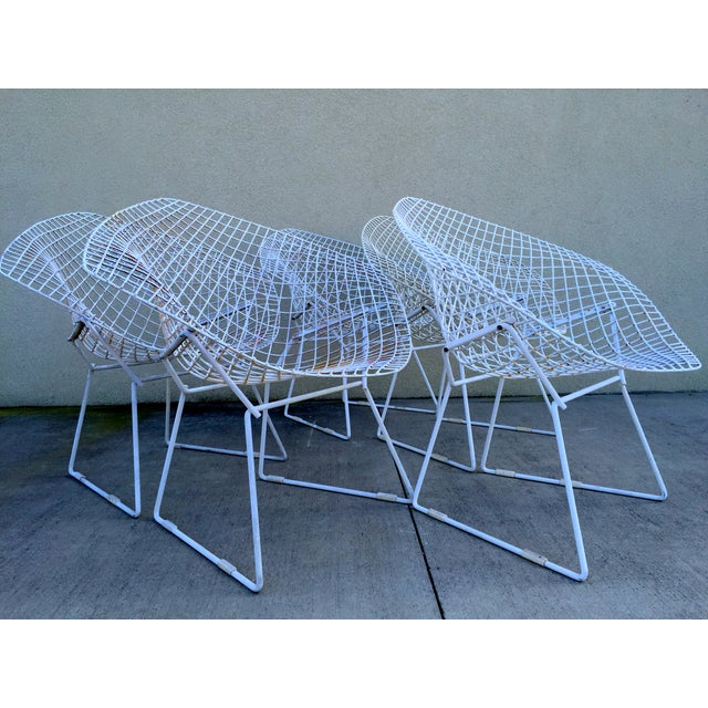 Harry Bertoia Mid-Century White Chairs - Set of 5 - Image 5 of 11