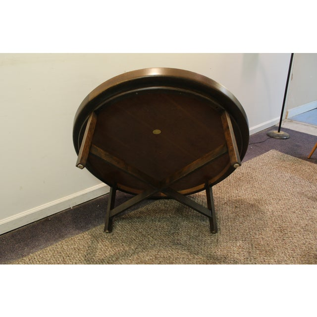 Mid-Century Modern Baker Round Flared Coffee Table - Image 11 of 11