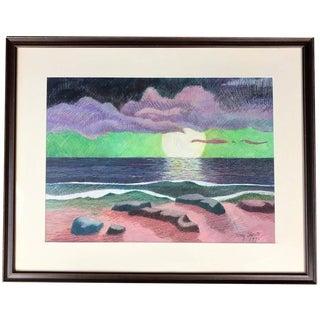 "1995 Tony Sheets ""Molokai Dream"" Watercolor Painting"