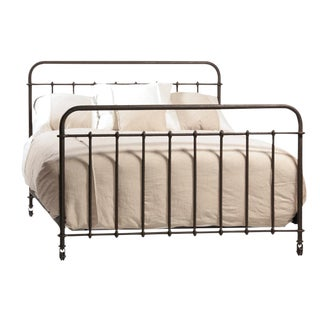 French Industrial Iron Cal King Bed