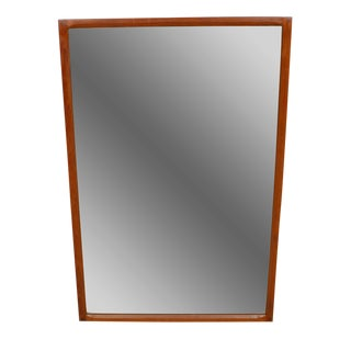 Large Aksel Kjersgaard Teak Mirror -- Model No. 168