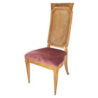 1970's High Caned-Back Side Chair