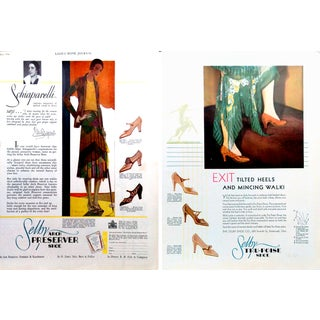 1930 Shelby Shoe Vogue Magazine Print Ads - Pair