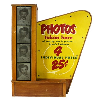 Vintage Lighted Photo Booth Sign