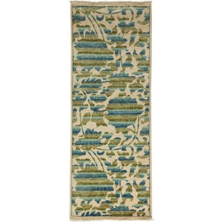 "Arts & Crafts Hand Knotted Runner Rug - 3' 1"" X 8' 1"""