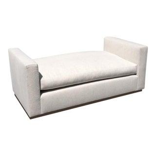 The Plinths - In Hues of Oak -custom - seating - upholstered in blended linen