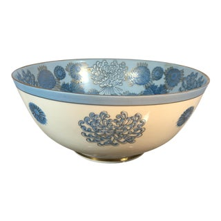 Blue Porcelain Chrysanthemum Bowl