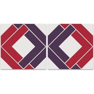 """Shadow Box"" Bold Purple & Pink Supergraphic - 2"