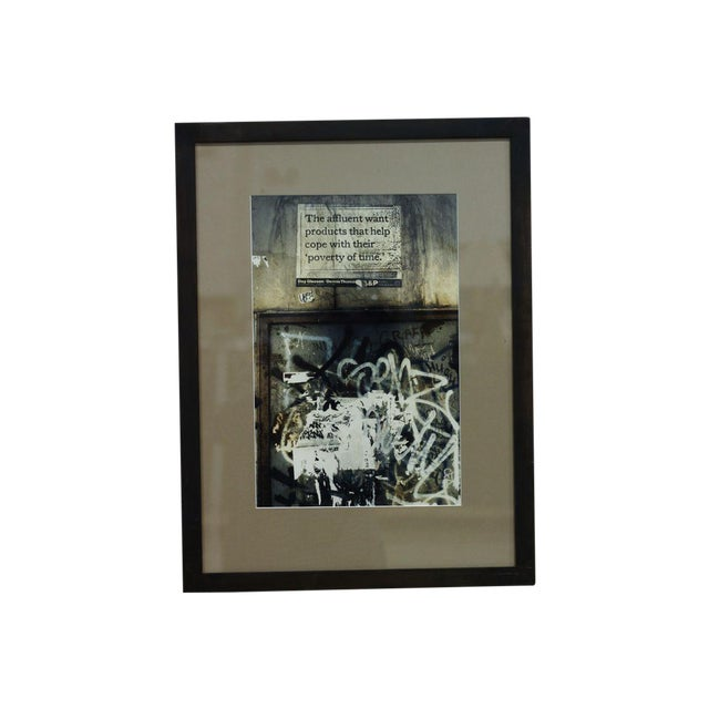 """Image of """"Poverty of Time"""" Collaged Print"""
