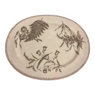 1800s Fern Motif Transferware Platter