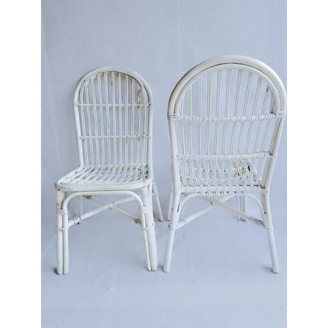 Mid-Century Bent Wood Bamboo Chairs - A Pair - Image 8 of 8