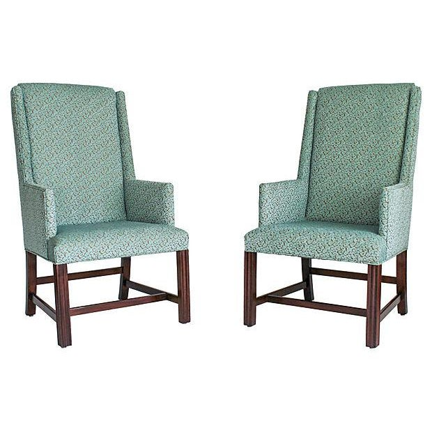 White Furniture Wingback Chairs - A Pair - Image 7 of 8