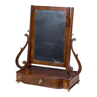 Classical Bow Front Shaving Mirror