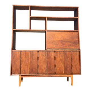 Mid-Century Wall Divider Bookcase