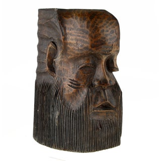 Hand-Carved African Face Mask