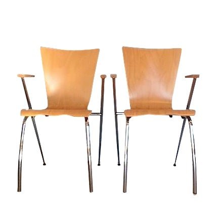 Gordon International Bentwood Arm Chairs - Pair - Image 1 of 6