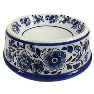 Blue & White Export Style Pet Bowl