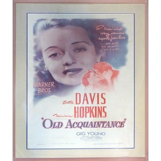 "Vintage ""Old Aquaintance"" With Betty Davis Poster"
