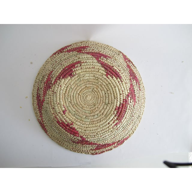 Decorative Pink Navajo Basket - Image 3 of 3
