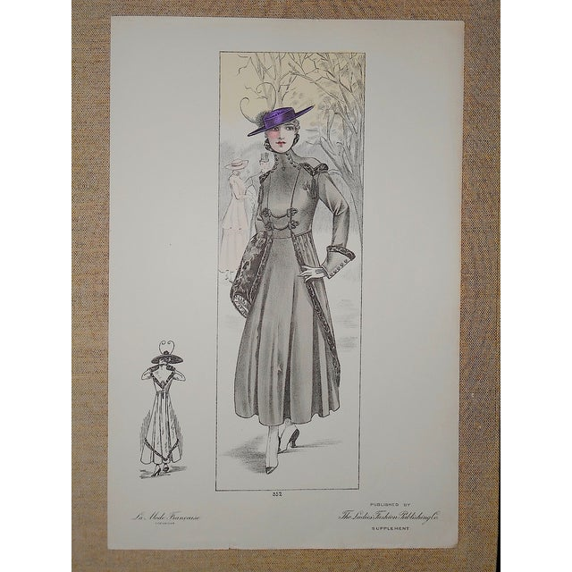 French Fashion Print Folio Size C.1920 - Image 3 of 3