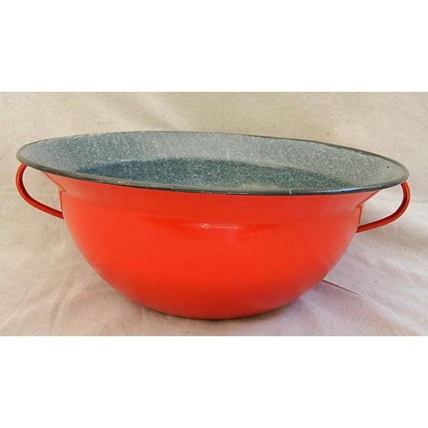 Image of Oversize Enamelware Harvest Bowl