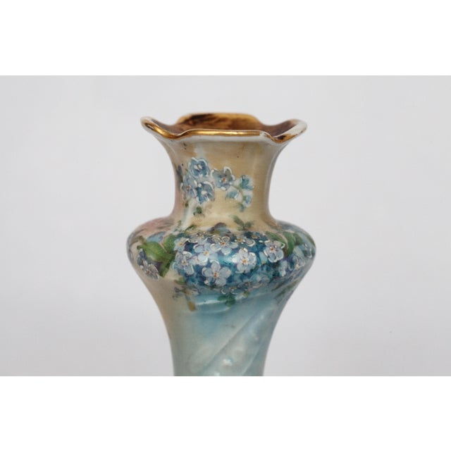 Victorian Porcelain Forget-Me-Not Candle Holder - Image 7 of 11