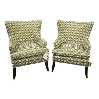 Hekman Wingback Chairs - A Pair