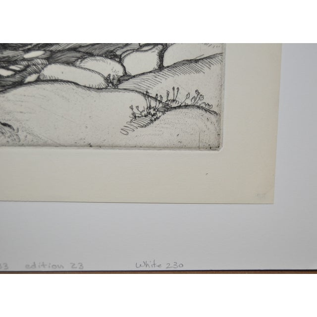 """""""Ice Worn Granite"""" Vintage Etching by Roi Partridge - Image 5 of 6"""