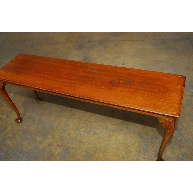 19th Century Queen Anne Revival Walnut Bench or Console - Image 2 of 8