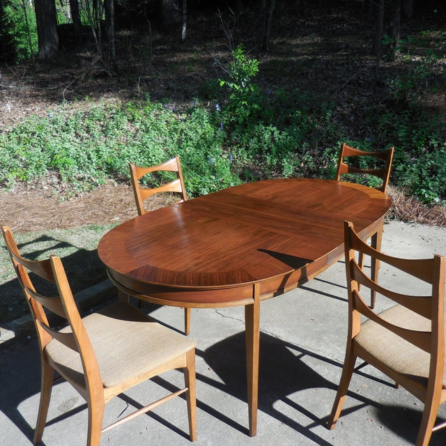 Mid-Century Lane Wood Dining Set - Image 6 of 9