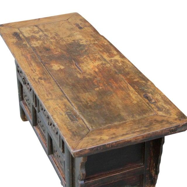 Antique Chinese Elm Money Dresser Coffee Table