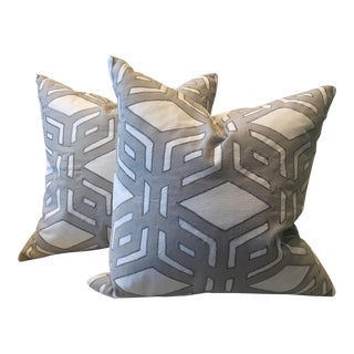 Millbrook Gray & Charcoal Pillows - A Pair