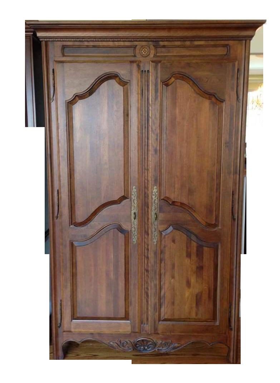 Ethan Allen Walnut Two Door Armoire Chairish