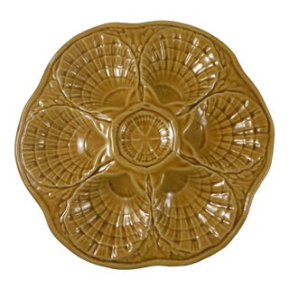 Majolica Yellow Oyster Plate