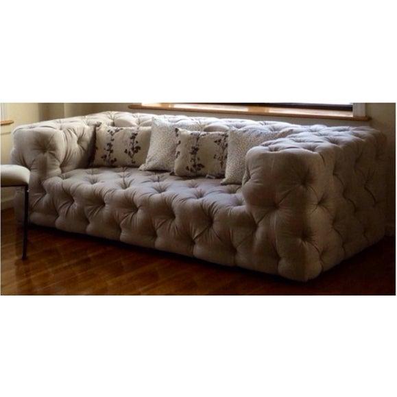 Restoration hardware soho tufted sofa chairish for Restoration hardware tufted sectional sofa
