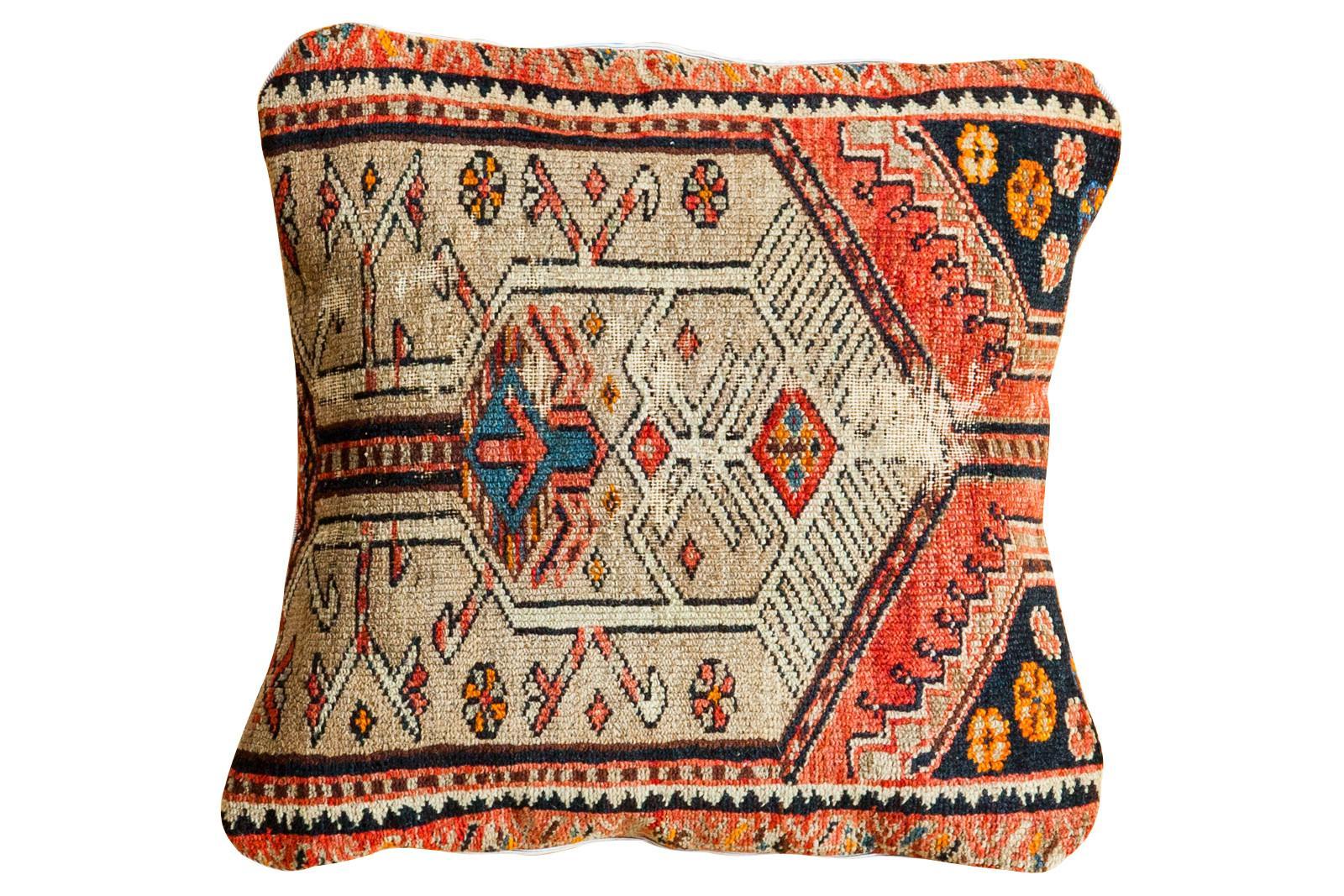 Handmade Persian Rug Fragment Pillow Chairish