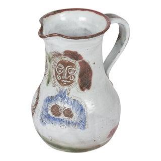 Glazed Stoneware Pitcher by Albert Thiry, French c. 1950