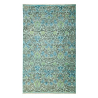 "Vibrance Over Dyed Hand Knotted Area Rug - 5'3"" X 8'6"""