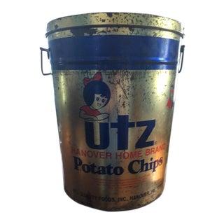 Vintage Utz Potato Chip Tin