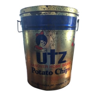 Vintage Utz Potato Chip Tin