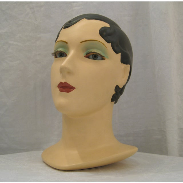 Brunette Vintage Mannequin Head - Image 2 of 6
