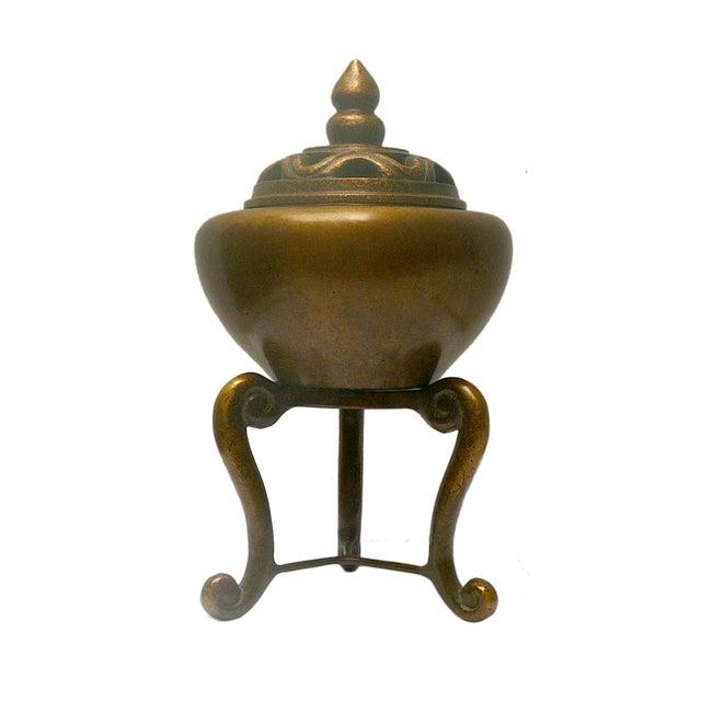 Oriental Chinese Handmade Fine Bronze Incense Burn - Image 1 of 4