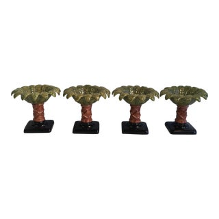 Vintage Palm Tree Compotes - Set of 4
